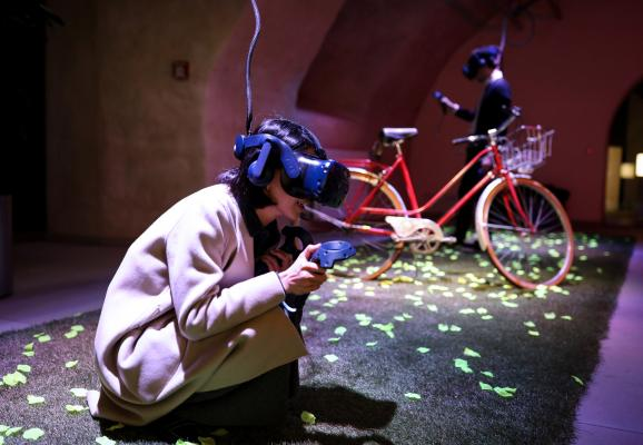 Opening of the VR Pavilion © Sophie Margue