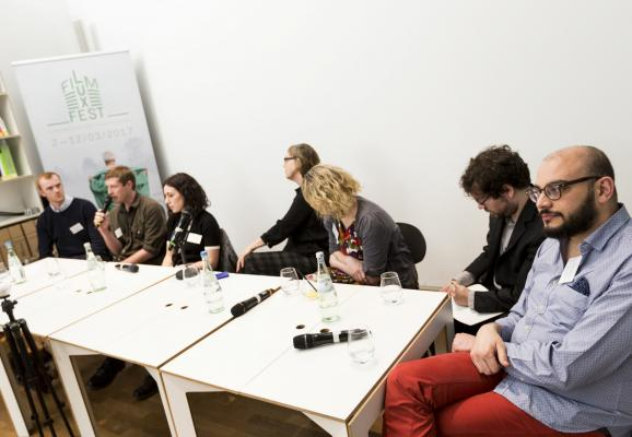 Round table at the VR Pavilion © Patrick Muller